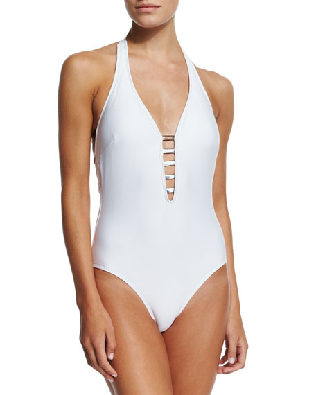 Luxe by Lisa Vogel Premier Strappy-Front One-Piece Swimsuit