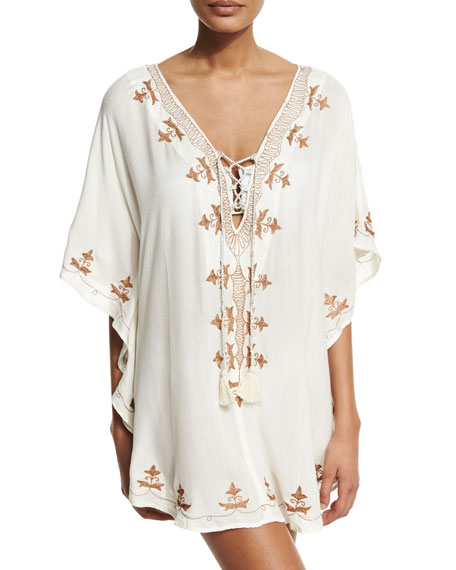 Luxe by Lisa Vogel Premier Embroidered Coverup Tunic