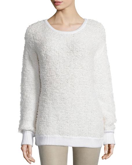rag & bone/JEAN Corrine Long-Sleeve Sweater, Ivory