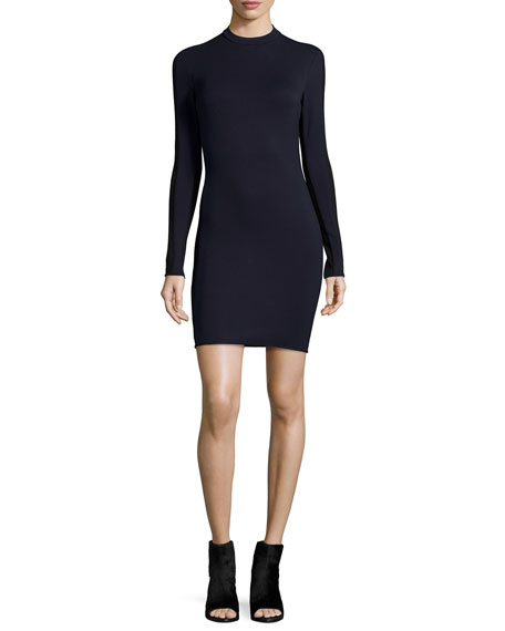 rag & bone/JEAN Reilly Long-Sleeve Sheath Dress, Navy