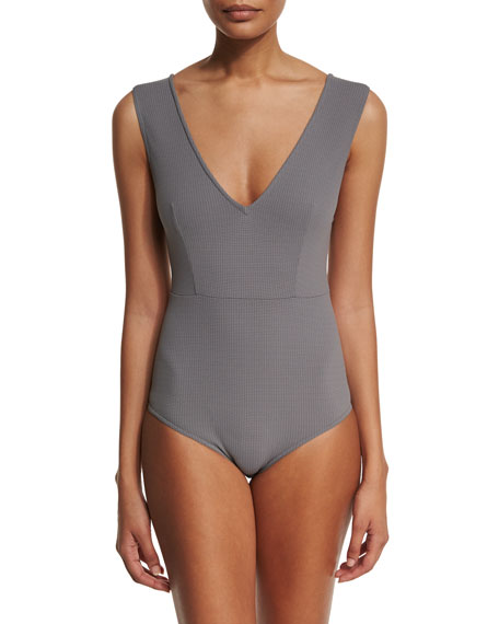MarysiaPoint Dume Textured One-Piece Swimsuit