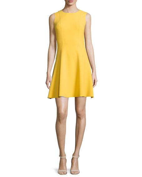 Michael Kors Collection Sleeveless Jewel-Neck Flirt Dress,