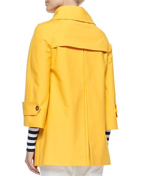 Double-Breasted Raincoat, Daffodil