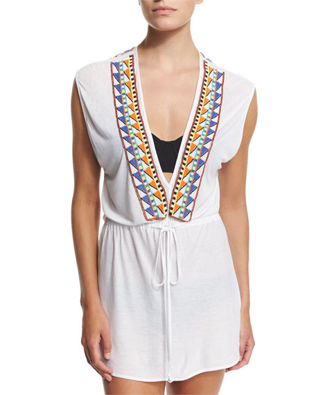 Milly Murano Embellished Coverup Dress