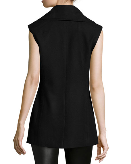 Double-Breasted Slim-Fit Vest, Dark Navy