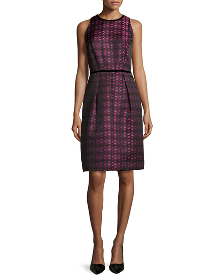 Carmen Marc Valvo Ombre Brocade Cocktail Dress