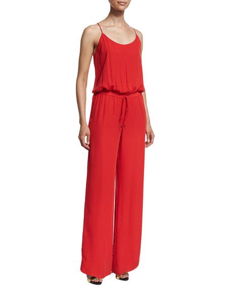 Camisole Wide-Leg Jumpsuit, Tomato