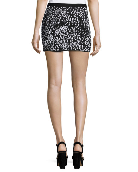 Embellished Cheetah Mini Skirt