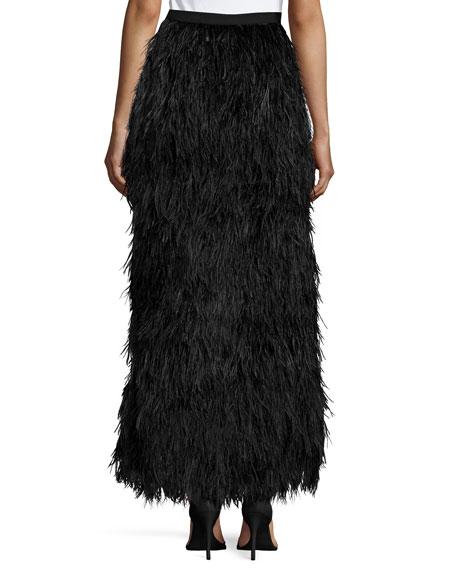 Feathered Mermaid Skirt, Black