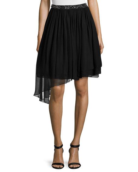 Haute Hippie Embellished-Waist Tutu Skirt, Black