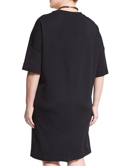 Ombra Half-Sleeve Jersey Dress, Plus Size