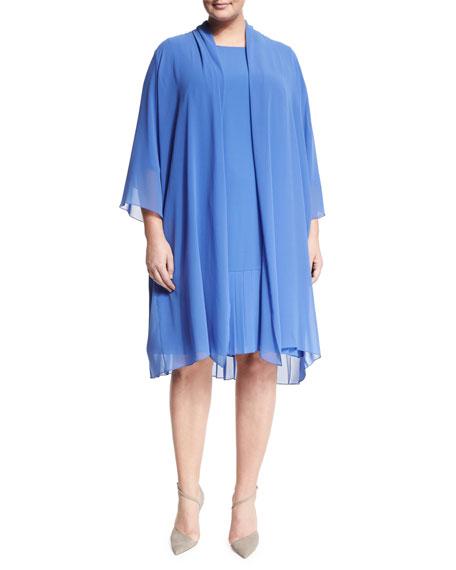 Marina RinaldiTempo Long Pleated Coat, Plus Size