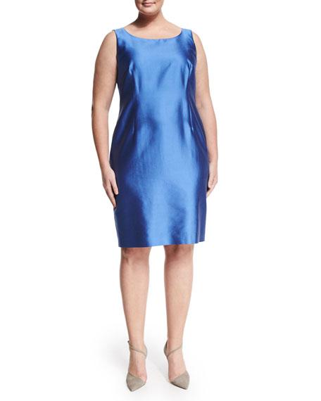 Marina Rinaldi Didone Sleeveless Sheath Dress W/ Attachable Sleeves, Plus Size