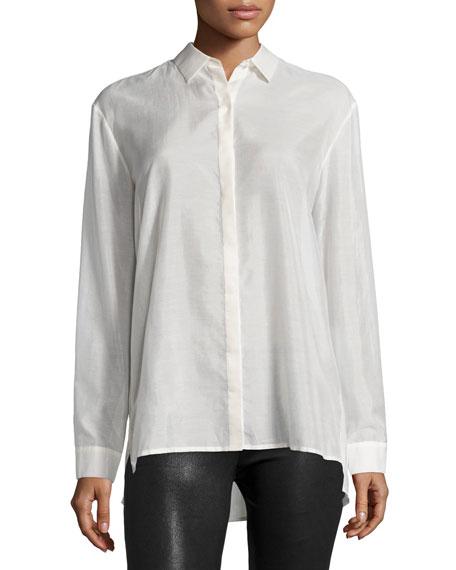 ATM Long-Sleeve Batiste Boyfriend Shirt