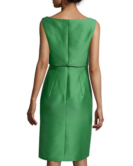 Sleeveless Twist-Front Dress, Peppermint