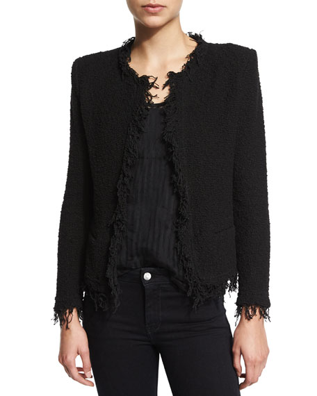 Shop polyester boucle jacket at Neiman Marcus, where you will find free shipping on the latest in fashion from top designers. More Details St. John Collection Micro Boucle Knit Jacket w/ Crepe Lapel, Black Details St. John Collection sleek micro boucle knit jacket .