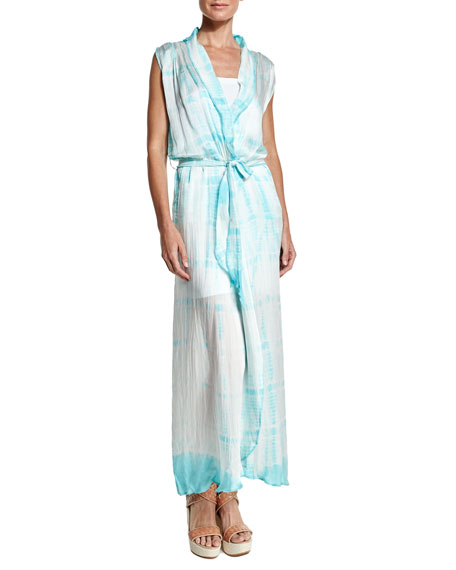 LetarteRoyal Hawaiian Tie-Dye Maxi Dress