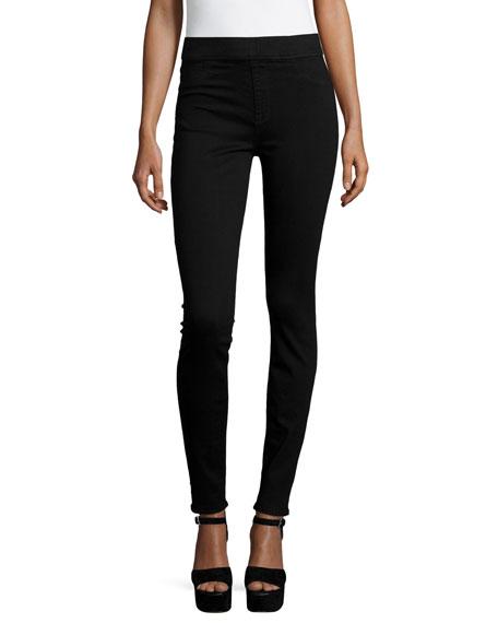 JEN7 Rich Power Pull-On Skinny Jeans, Luxe Black