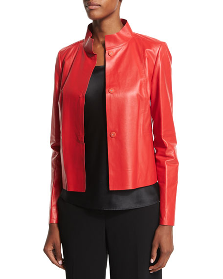Lafayette 148 New York Crawford Leather Topper