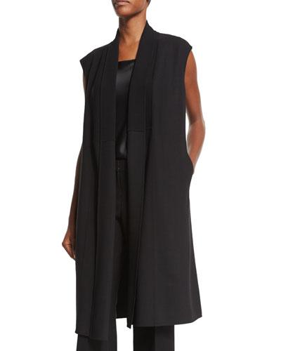 Zahra Wool-Blend A-line Vest