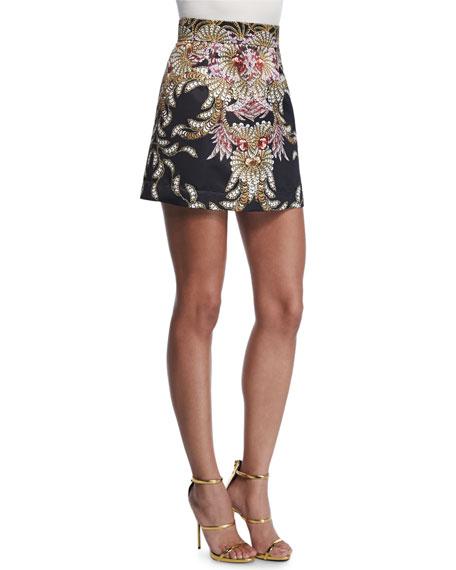 Just Cavalli Fairy Mermaid Mini Skirt, Black