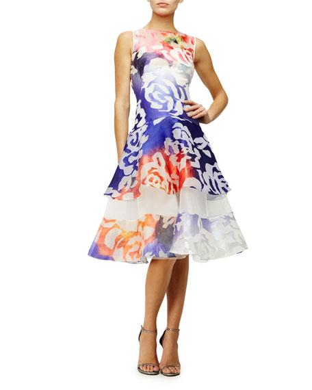 Lapis Floral-Print Fit-&-Flare Dress, Multi Colors