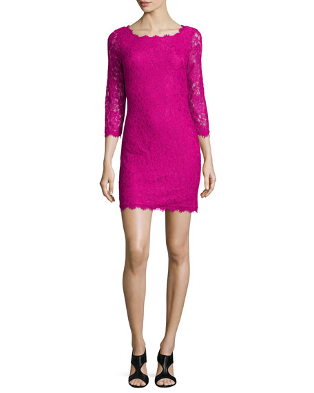 Diane von Furstenberg Zarita Lace Sheath Dress, Hot