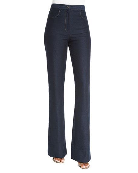 Diane von Furstenberg Debbie Flare Stretch Jeans, Indigo