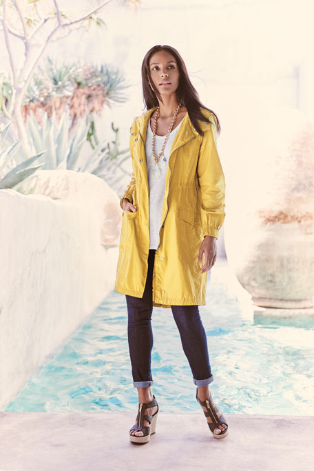 Hooded Long Anorak Jacket
