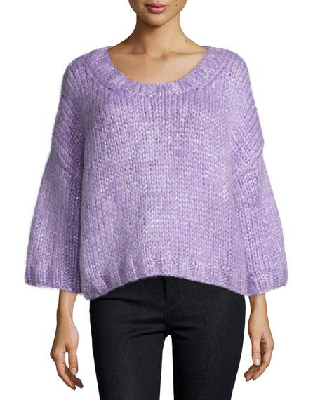Michael Kors 3/4-Sleeve Pullover Sweater, Wisteria