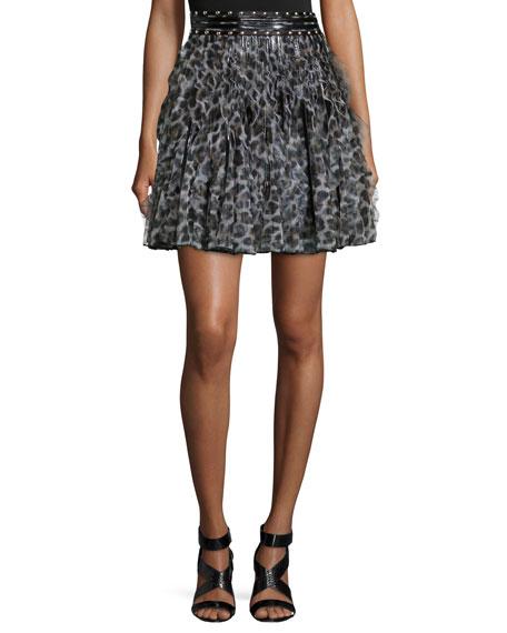 Just Cavalli Wild Ninja Printed Ruffle Skirt