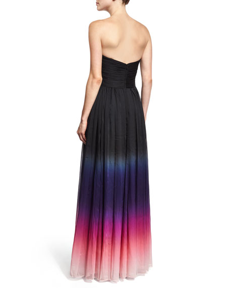 Strapless Ombre Gown, Orchid