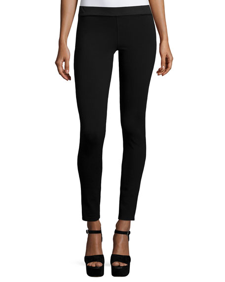 Silk Crepe Ankle Leggings