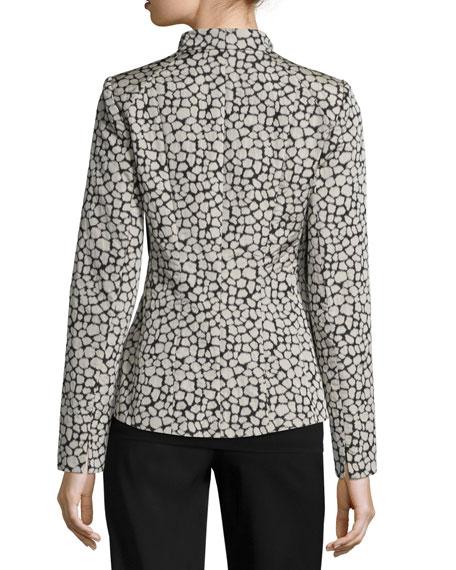 Amia Leopard Jacquard Jacket
