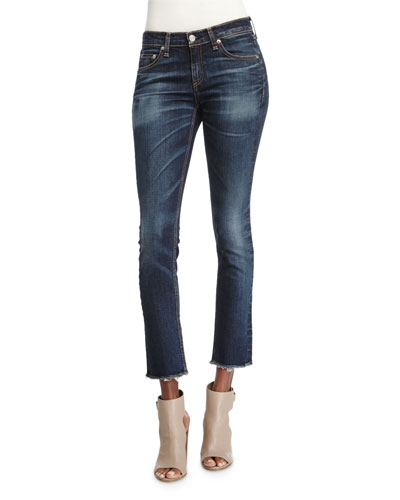 Mid-Rise Skinny Cropped Jeans, Doheny