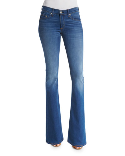 Mid-Rise Bell-Bottom Jeans, Houston