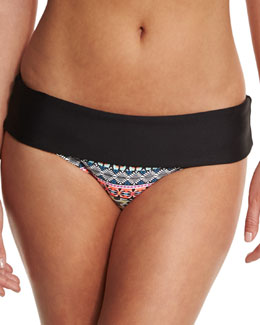 Find Your Chi Retro Banded Swim Bottom