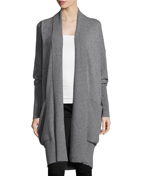 Michael Kors Collection Long-Sleeve Oversized Cashmere Cardigan, Banker