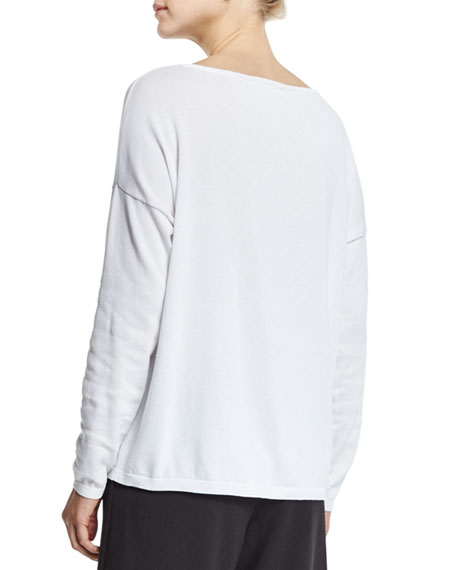 Long-Sleeve Sequined Butterfly Sweater, Plus Size