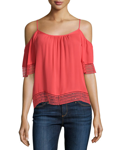 Sicily Cold-Shoulder Blouse, Fiesta