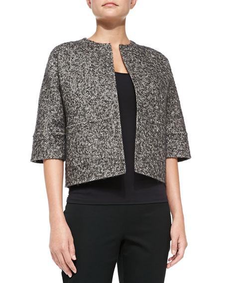 Michael Kors Collection Herringbone Reversible Jacket