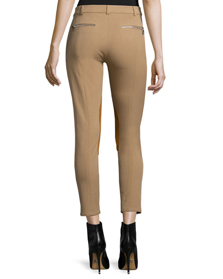 Skinny-Leg Riding Pants, Fawn