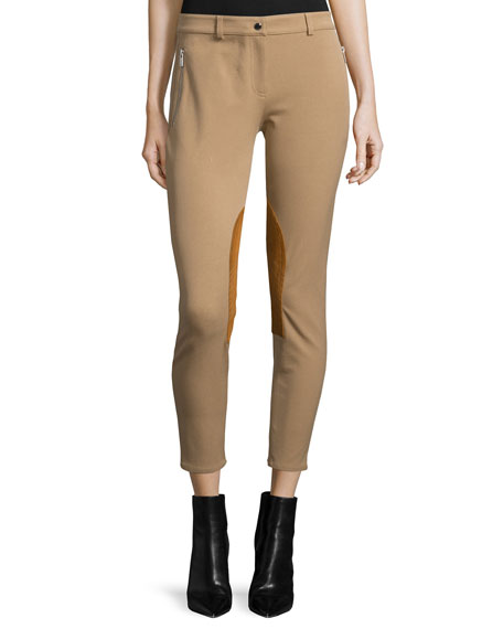 Michael Kors Collection Skinny-Leg Riding Pants, Fawn
