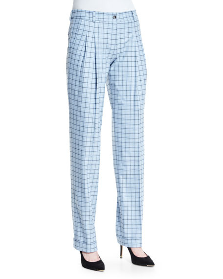 Michael Kors Collection Pleated-Front Slouch Trousers,