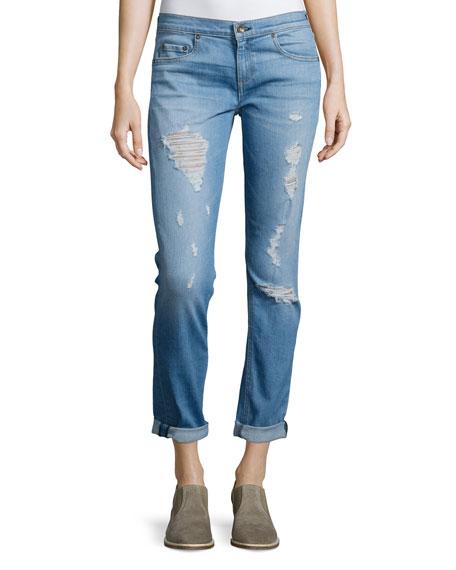 rag & bone/JEAN Dre Distressed Cuffed Jeans, Rosslyn