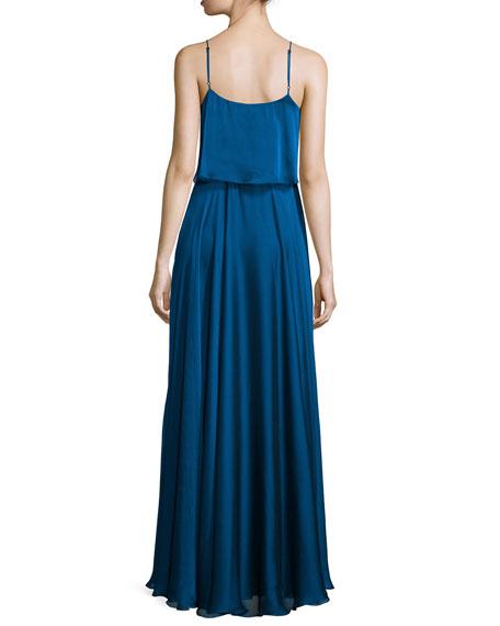 Sleeveless Iridescent Popover Gown
