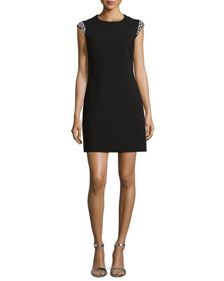 kate spade new york embellished-cap-sleeve shift dress
