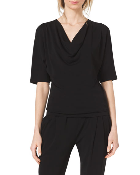 Michael Kors Collection Jersey Cowl-Neck Top