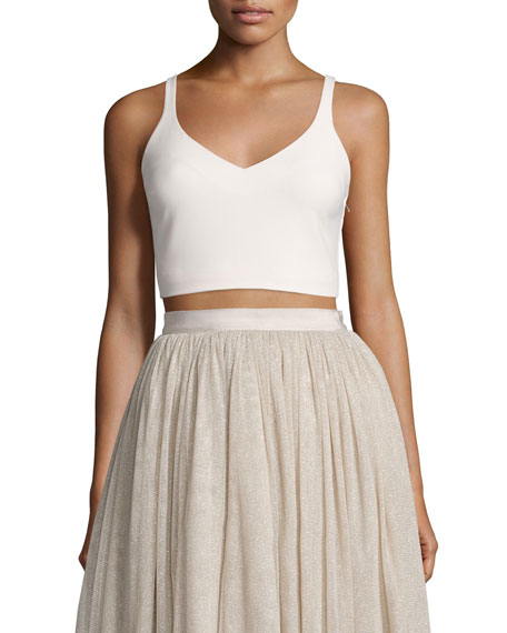 Elizabeth and James Nia Sleeveless Lace-Up Crop Top,