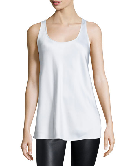 Michael Kors Scoop-Neck A-Line Tank, Optic White